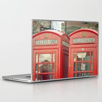 telephone Laptop & iPad Skins featuring Telephone by The Last Sparrow