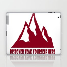 Mountain Design #DiscoverTeakYourselfHere Laptop & iPad Skin