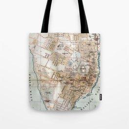Vintage Map of Halifax Nova Scotia (1890) Tote Bag