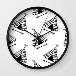 tipi pattern Wall Clock