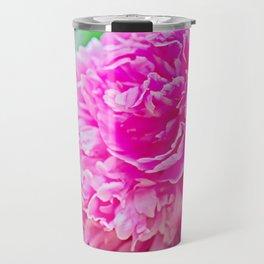 Pink peony beauty Travel Mug