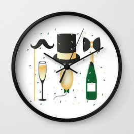 New Years Eve Party Wall Clock