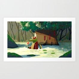 PEOW CREEK Art Print