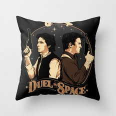 Duel in Space Throw Pillow