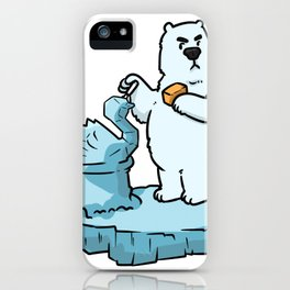 Bear North Pole Gift Brown Panda Funny Cool iPhone Case