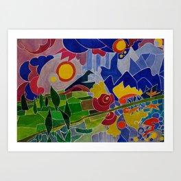 I Monti Sibillini (The Sibillini Hills) Art Print