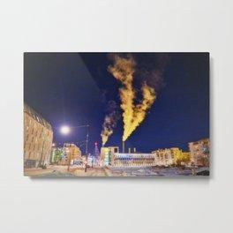 Smoke in the night Metal Print