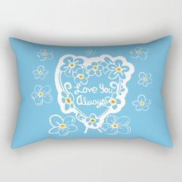 Forget-Me-Nots Love You Always Rectangular Pillow