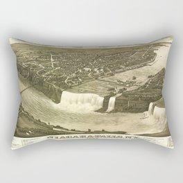 NIAGARA FALLS New-York city old map Father Day art print poster Rectangular Pillow