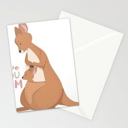 Kangaroo Mom Love Stationery Cards