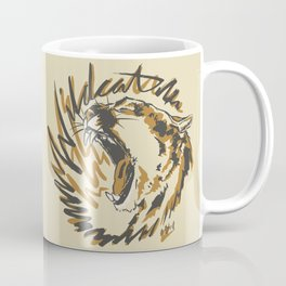 Wildcat Roar - Mountain Lion - Orange Ochre Coffee Mug
