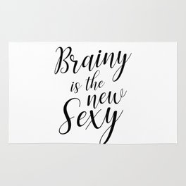 Brainy is the new sexy Rug