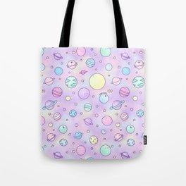 Pastel Planets Doodle Tote Bag