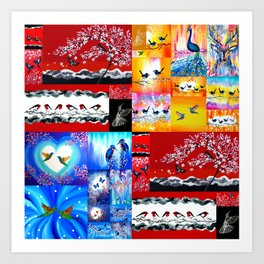 mainly red Art Print