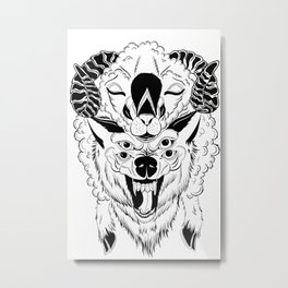 The Wolf In Sheep's clothing Metal Print