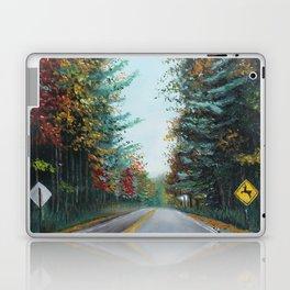 Turkey Crossing Autumn Trees Art Laptop & iPad Skin