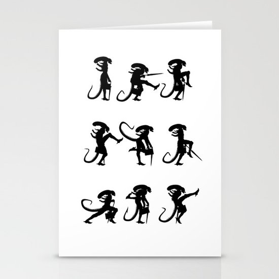 Ministry of Alien Silly Walks Stationery Cards