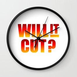 Will It Cut Wall Clock