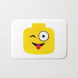 Winking Smile - Emoji Minifigure Painting Bath Mat