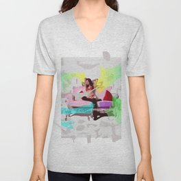 Sofa Girl Unisex V-Neck