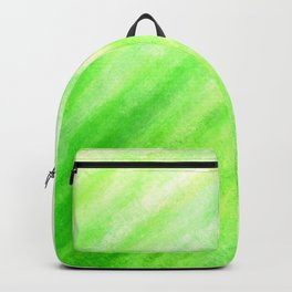 Tidal 3 Fresh Green with Yellow Nature - Abstract Art Series Backpack