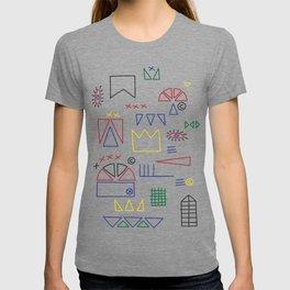 Basquiat & Volpi inspired pattern  T-shirt
