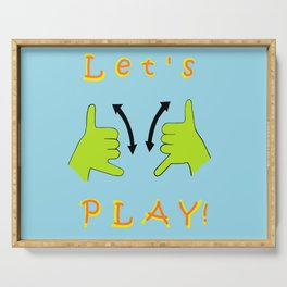 ASL Let's PLAY! Serving Tray