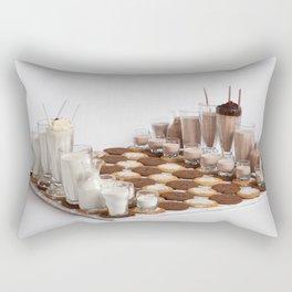 Cookies and Milk Chess Set Rectangular Pillow