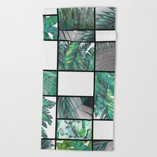 cool tropic  Beach Towel