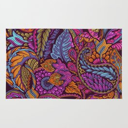 Paisley Dreams - sunset colors Rug