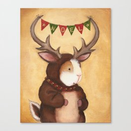 Ferdie the Christmas Reindeer Guinea Pig Canvas Print