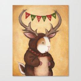 Ferdie the Christmas Reindeer Guinea Pig Canvas Print
