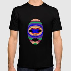 Badu mask MEDIUM Black Mens Fitted Tee