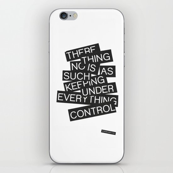 Under Control iPhone & iPod Skin