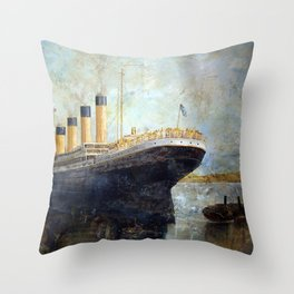 Titanic March 2010 by Ray Sinclair Throw Pillow