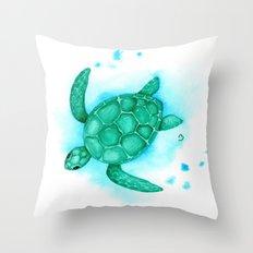 Nursery Style Sea Turtle Throw Pillow