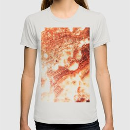 Marble Flow - Rust Orange T-shirt