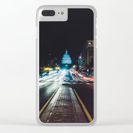 Traffic On North Capitol Clear iPhone Case