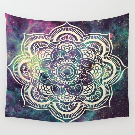 Galaxy Mandala Deep Pastels Wall Tapestry By