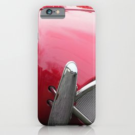 close up - vintage red 1960s sports car iPhone Case