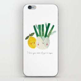 I love you even if you're vegan iPhone Skin