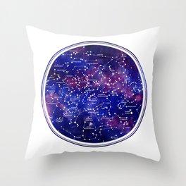 Star Map III Throw Pillow