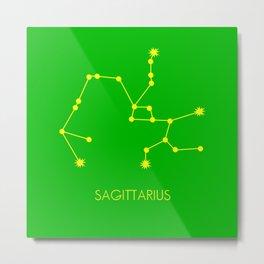 SAGITTARIUS (YELLOW-GREEN STAR SIGN) Metal Print
