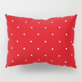Polka Dot Red Pillow Sham