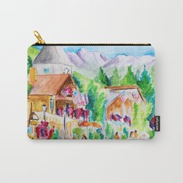 Vail Village Colorado Watercolor Carry-All Pouch