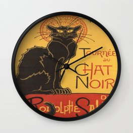 Soon, the Black Cat Tour by Rodolphe Salis Wall Clock