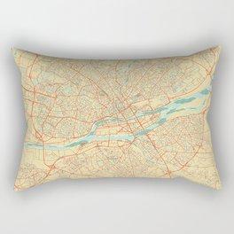 Nantes Map Retro Rectangular Pillow