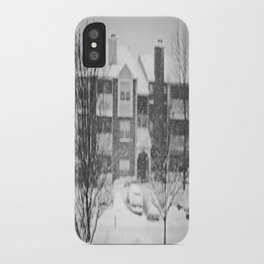 Flakes Falling iPhone Case