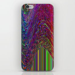 Glitch Space background iPhone Skin