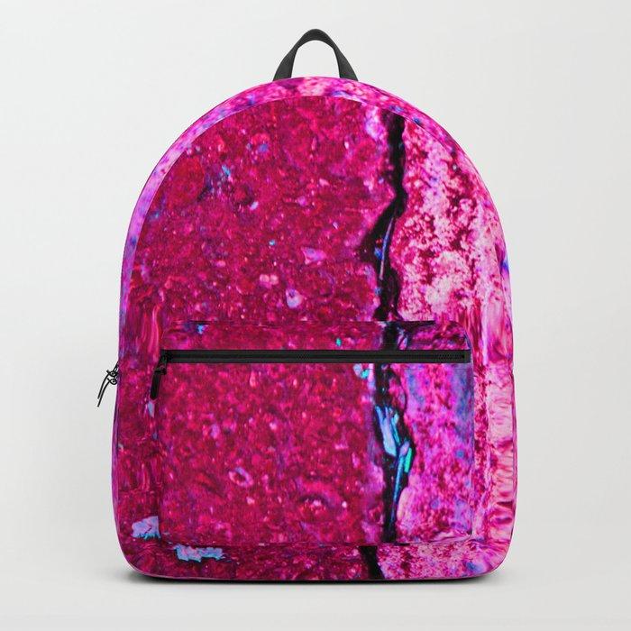 Neon Pink Road Backpack